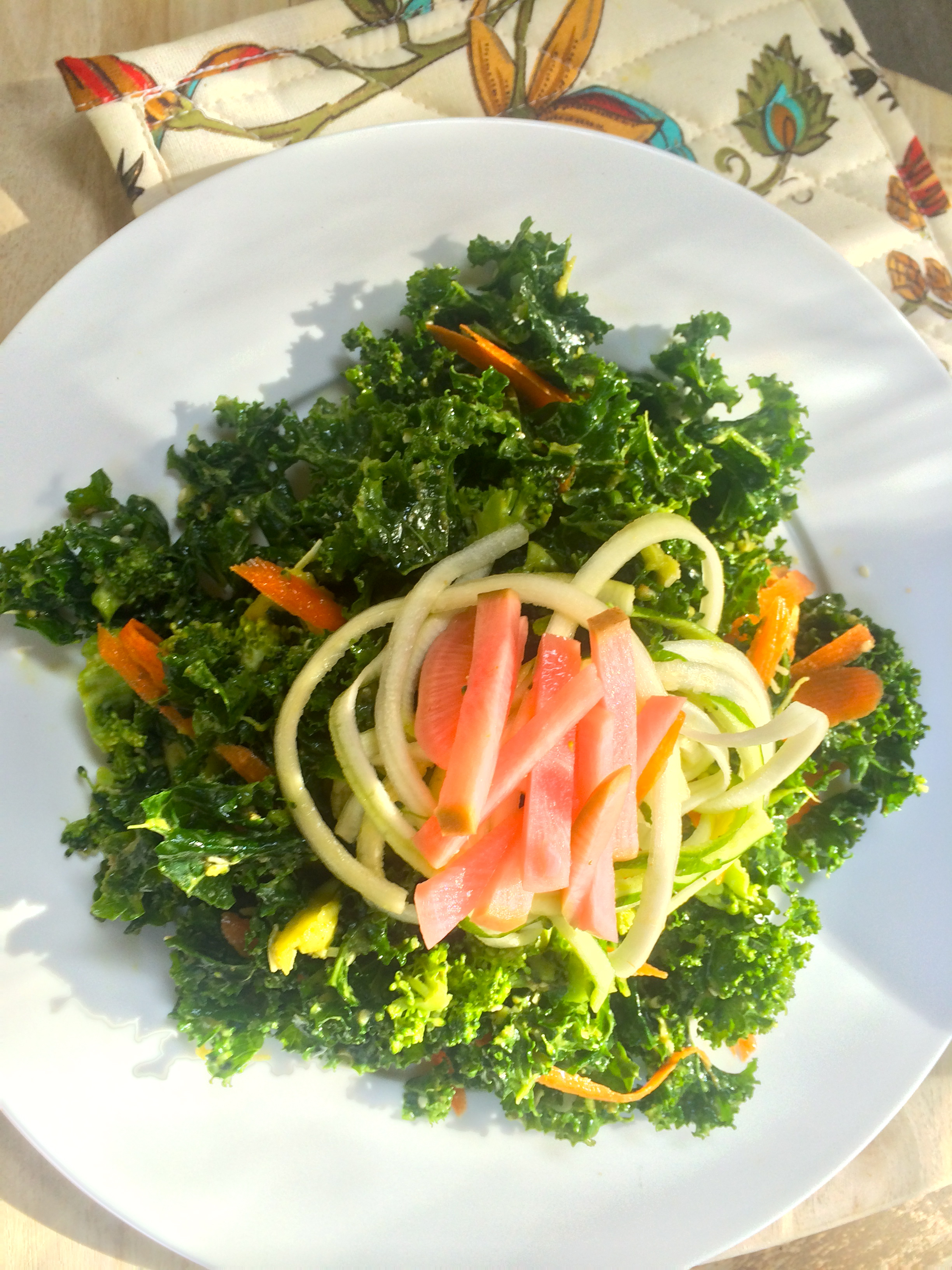... //Sesame Massaged Kale Salad + Pickled Radishes | Fresh Vibes Only